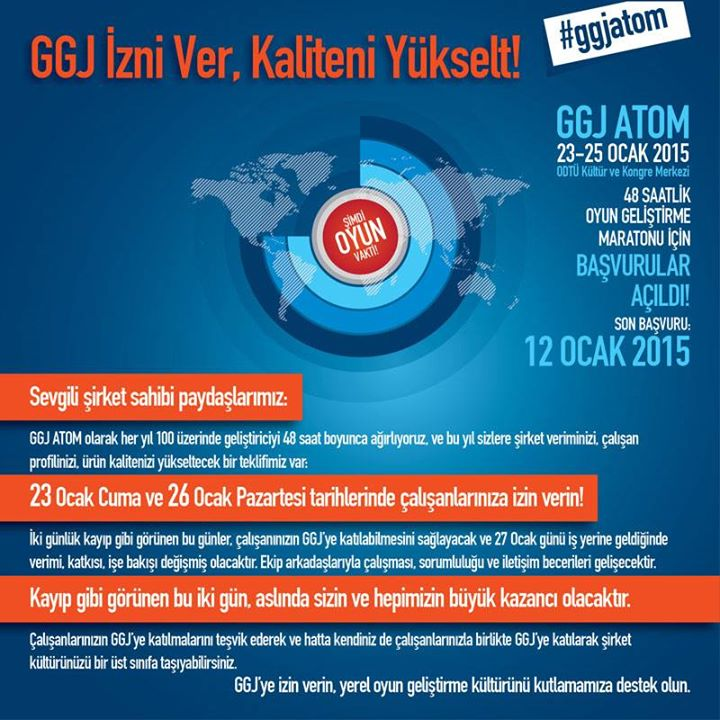Çalışanınıza GGJ izni verin, şirket kültürünüzü zenginleştirin!