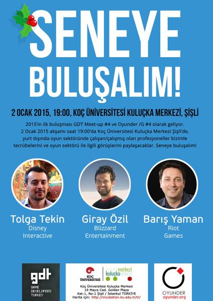 Seneye buluşalım! GDT Meetup ve /G #4 etkinlikleri 2 Ocak 2015'te