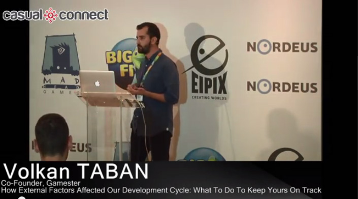 Gamester'dan Volkan Taban'ın Casual Connect Eastern Europe 2014 sunumu Youtube'de