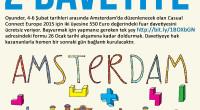 Oyunder, 4-6 Şubat tarihleri arasında Amsterdam'da düzenlenecek olan Casual Connect Europe 2015 için iki üyesine 550 Euro değerindeki fuar davetiyesini ücretsiz veriyor*.