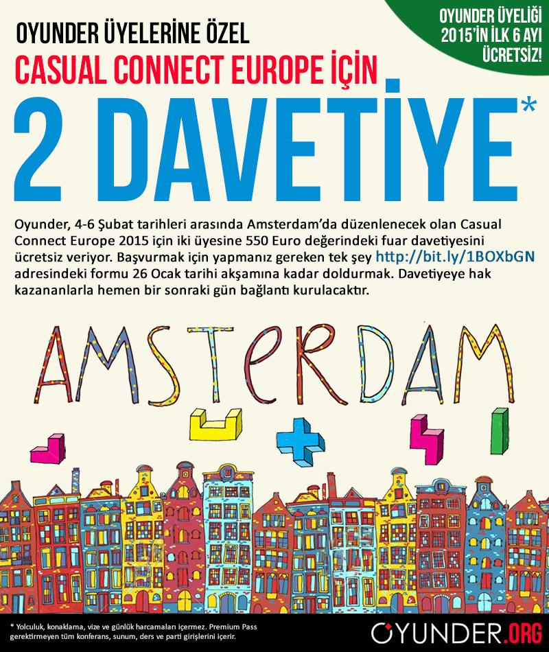 Oyunder üyelerine özel: Casual Connect Europe için 2 davetiye