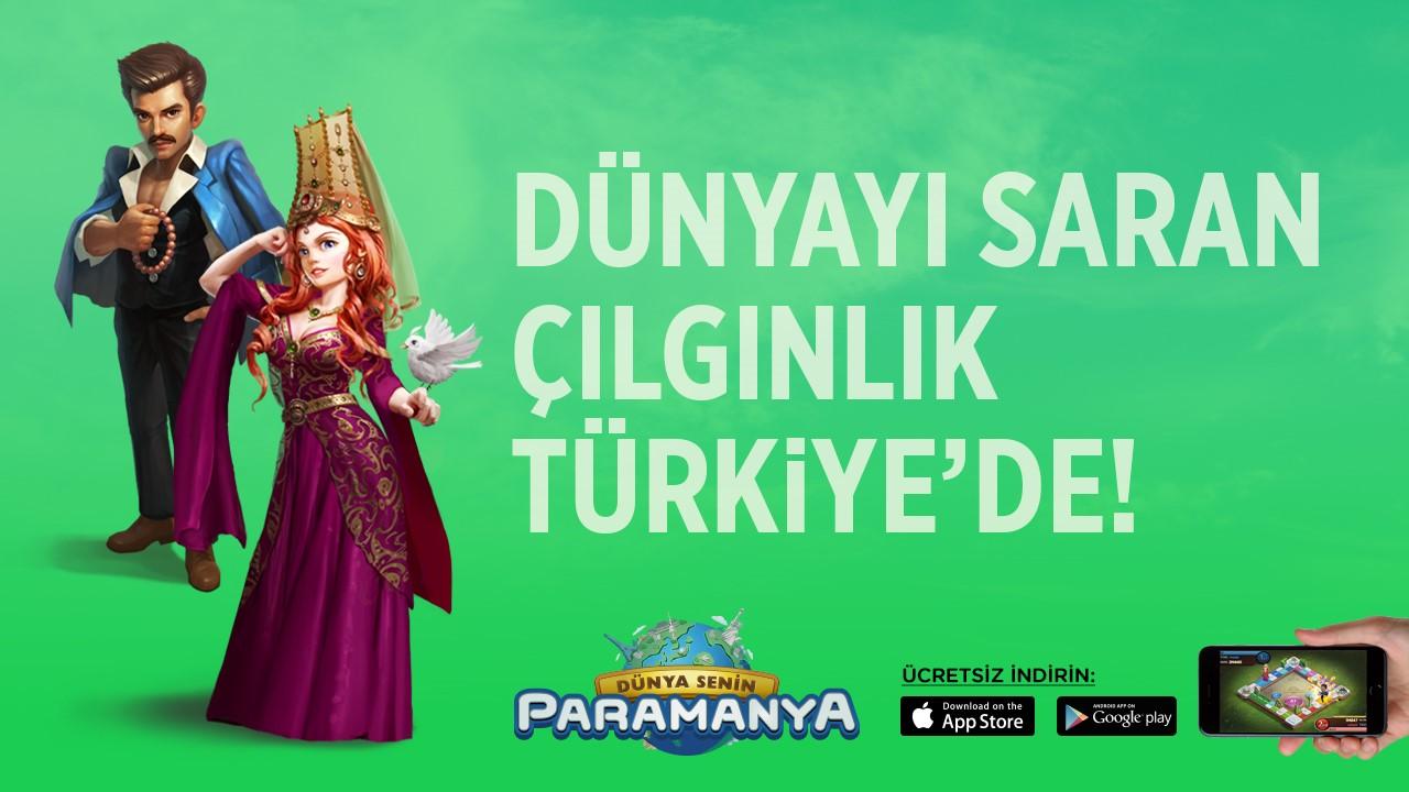 Dünyanın en çok oynanan mobil oyunlarından Travelling Millionare, 'Paramanya' ismiyle şimdi Türkiye'de!