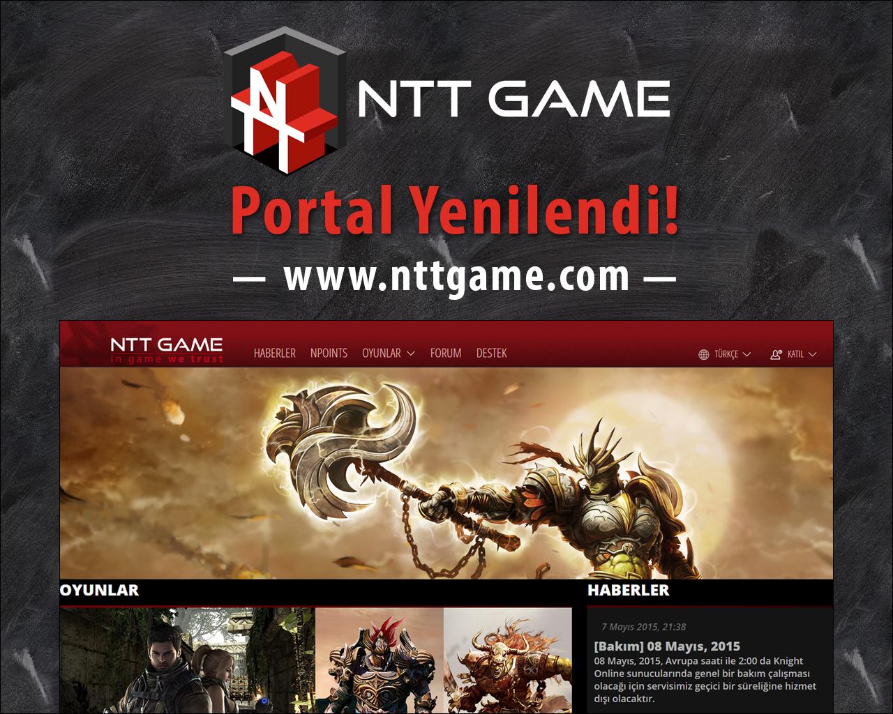NTT GAME RESMİ SİTESİ YENİLENDİ!