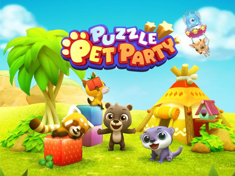 """Netmarble'ın Mobil Puzzle Oyunu """"Puzzle Pet Party"""" Geliyor"""