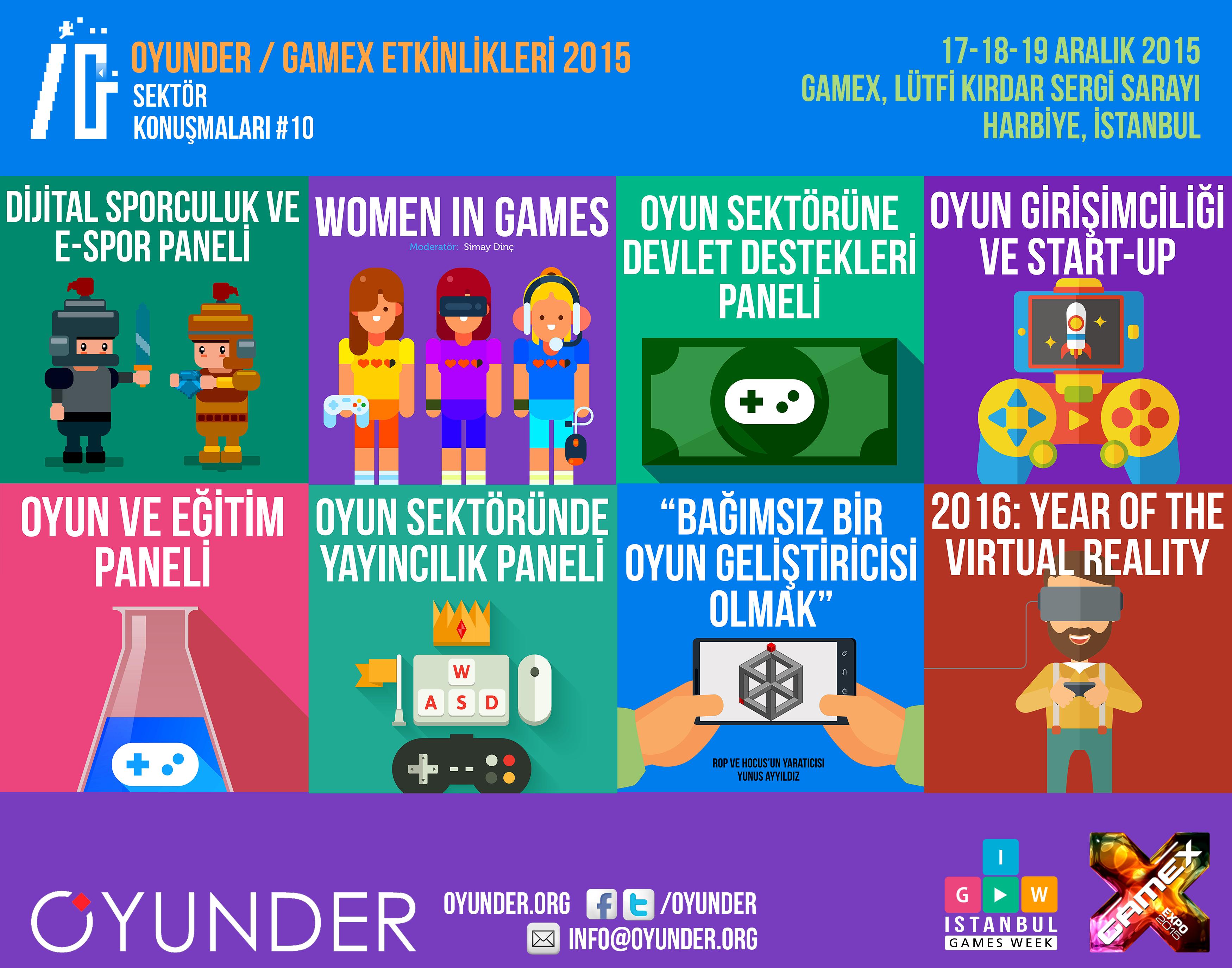 OYUNDER / GameX 2015'de Etkinlik Programı Açıklandı