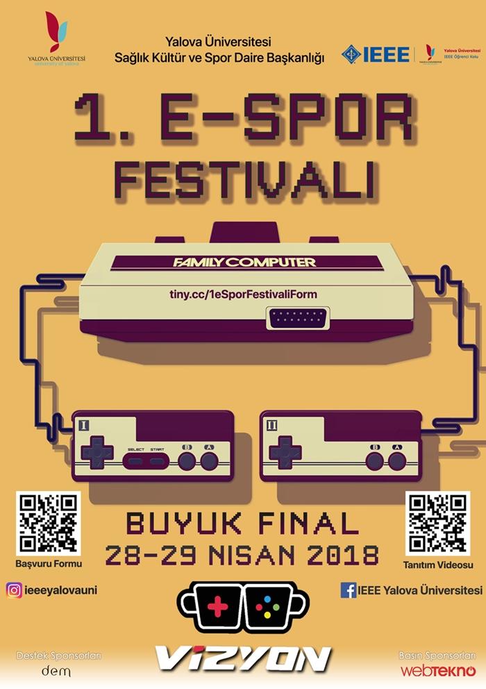 1. espor festivali Yalova Üniversitesi